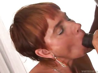 redhead mature takes a pounding exotic a big black cock