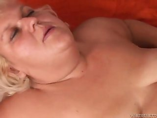 bbw mature blonde adriana is fucked by an old man