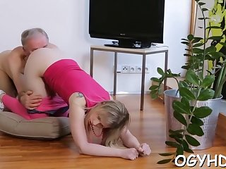 old cock enters young pussy