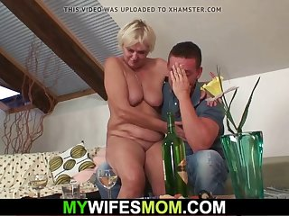 boozed hairy-pussy blonde mother inlaw