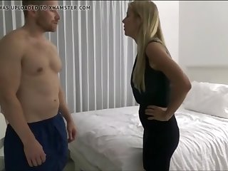 dude fucks not his stepmother hard in bed voyeur