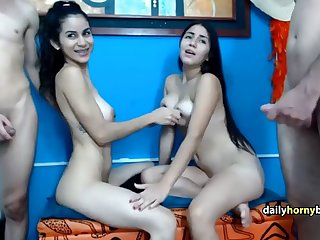 two young spanish couple fuck for the cam
