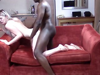 blackandhungx - she gets caught fucking on parents sofa