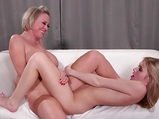cleaning woman and the mature boss having sex in the office