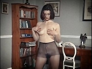 nylon twitting - vintage british hairy pulchritude