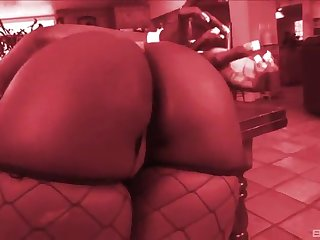 for detail ass pornstar takes a chunky black horseshit deep in her chocolate pussy